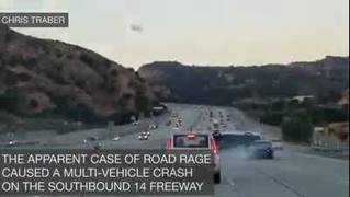 Raw video: Motorcycle, car involved in road rage incident
