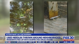 Used Needles thrown around neighborhood