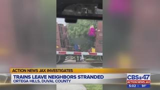 Action News Jax Investigates: Train blocks road, leaves Jacksonville…