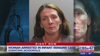 Woman arrested in Jacksonville after infant body parts found in North Carolina