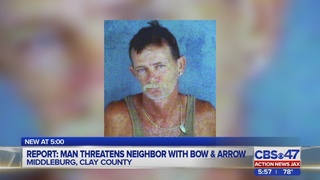 Clay County man charged with threatening man with bow and arrow