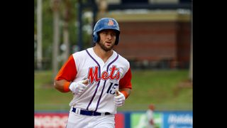 Tim Tebow hits first home run during his first day with the Port St. Lucie Mets