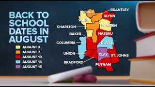 CALENDAR: Back-to-school dates for Jacksonville, surrounding counties