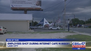 Employees shot during internet cafe robbery