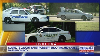 Suspects caught after robbery, shooting and chase