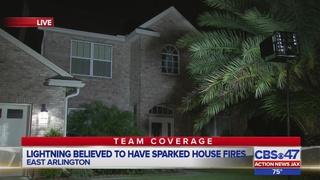 Jacksonville firefighters respond to multiple house fires in Arlington