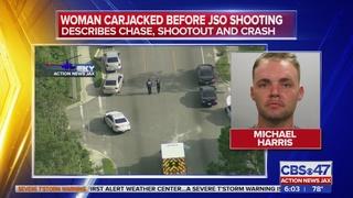 Woman carjacked before JSO shooting
