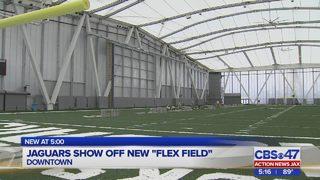 Jaguars show off new flex field