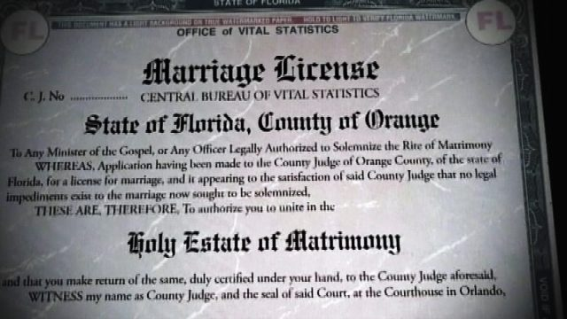 Florida marriage licenses: Florida lawmaker seeks ban of marriage ...