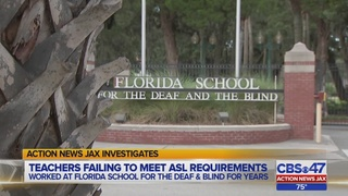 Some teachers failing to meet ASL requirements at Florida School for the…