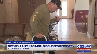 Deputy hurt in crash discusses recovery