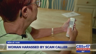 Woman harassed by scam caller