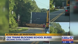 Parents report CSX trains making students late for school