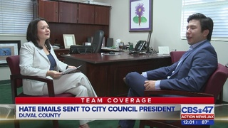 Hate emails sent to city council president