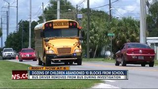 Florida bus driver left kids 10 blocks from school to walk alone
