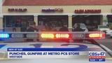 Punches, gunfire at Metro PCS store