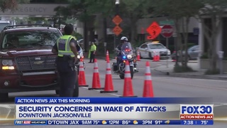 Jacksonville police work to keep crowds safe from potential threats