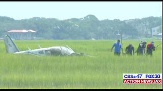Photos: Crews rescue student, instructor from St. Augustine plane crash