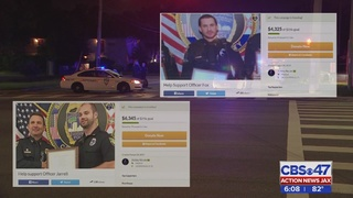 Community shows support to Jacksonville officers shot