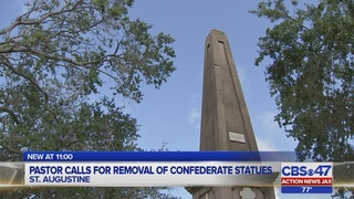 Pastor calls for removal of confederate statues in St. Augustine