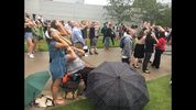Solar eclipse watch party at the Univesity of North Florida.