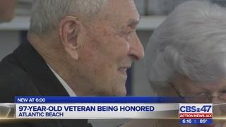 97-year-old veteran being honored