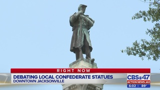 Debating local Confederate statues during Jacksonville City Council…
