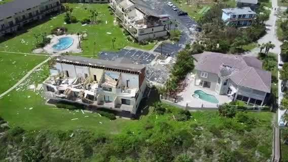 Drone Video St Augustine Condos Destroyed By Hurricane