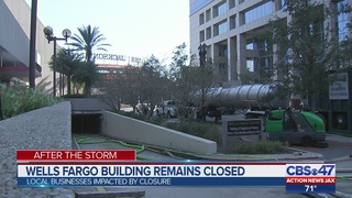 Wells Fargo building remains closed after flooding