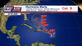 Updates: Maria re-strengthens to a Category 5 hurricane
