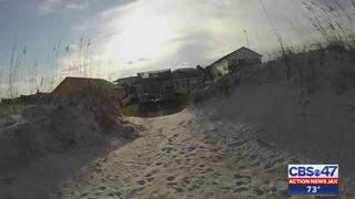 Dunes in St. Augustine cut away