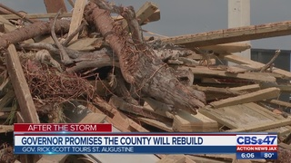 Florida Gov. tours Hurricane Irma damage in St. Johns County