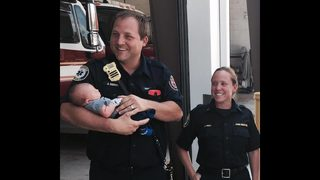 St. Johns County first responders meet baby born during Hurricane Irma