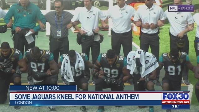 Fans React To Jacksonville Jaguars Taking Knee During National Anthem    WJAX TV