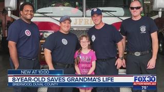 Jacksonville girl rescues grandmother