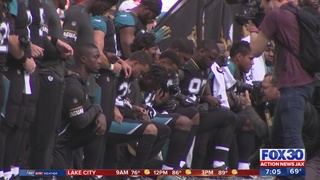 Fans react to some Jaguar players taking a knee