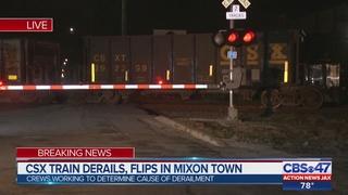 CSX works 9-car derailment in Mixon Town
