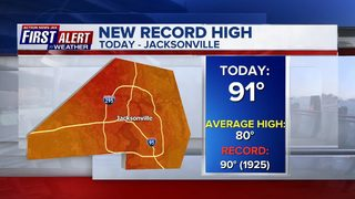 Cold front to bring rain, cooler temps to Jacksonville