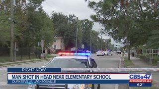 Man shot in head near elementary school