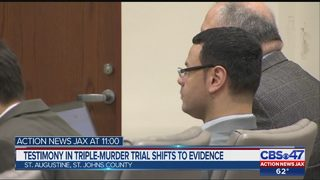 Testimony in triple-murder trial shifts to evidence