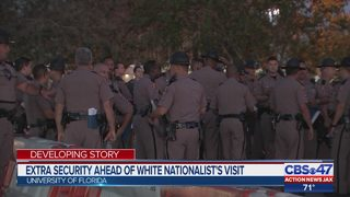 Extra security ahead of white nationalist