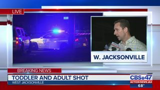 Jacksonville police: Toddler, adult shot on Broadway Avenue, search for…