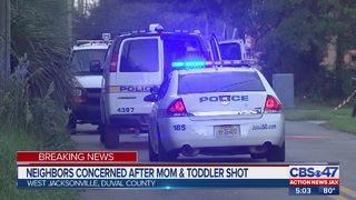 Neighbors concerned after mom and toddler shot
