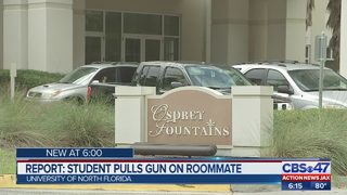 Report: student pulls gun on roommate