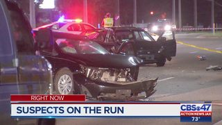 Suspects sought in 103rd shooting, crash in Jacksonville