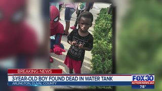 3-year-old boy found dead in water tank