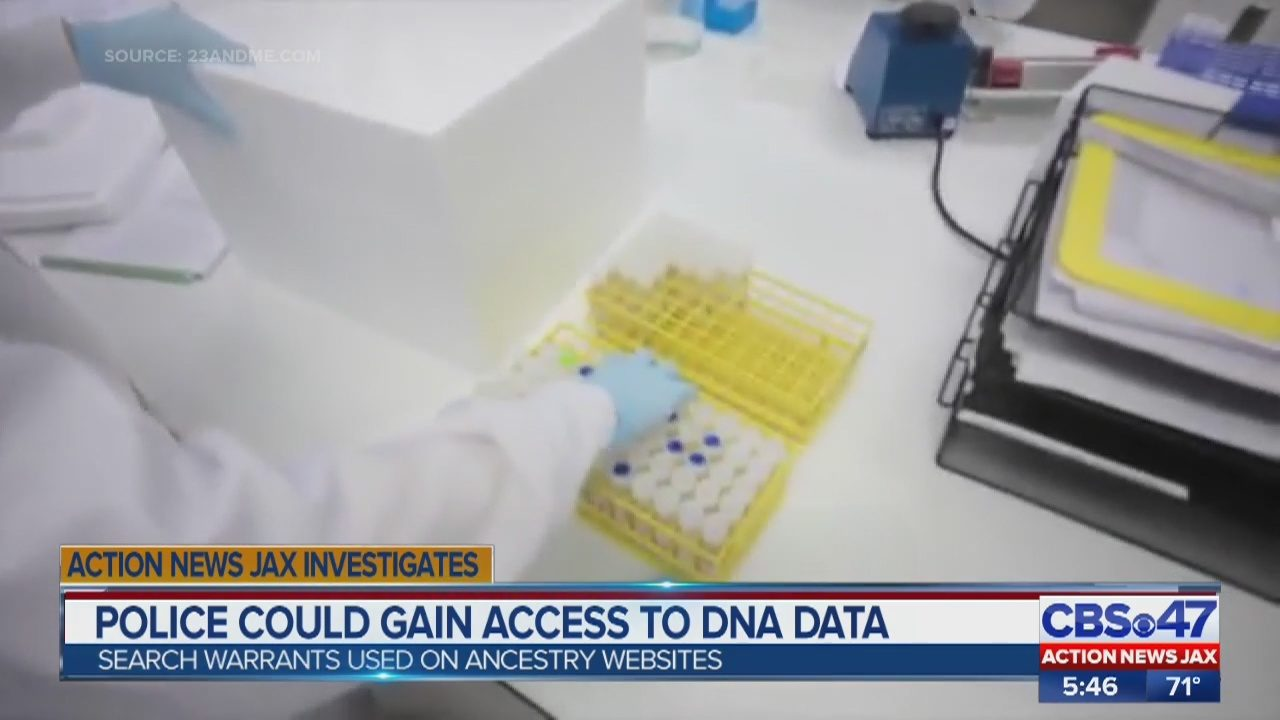 Police can request your DNA from 23andMe, Ancestry | WJAX-TV