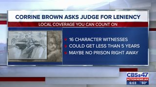 Corrine Brown asks judge for leniency