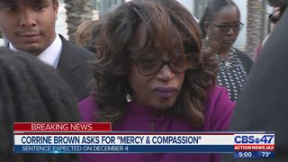Tearful Corrine Brown asks court for mercy at sentencing hearing