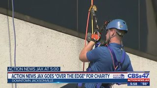 Action News Jax goes Over the Edge for charity